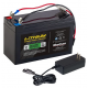"MARCUM LITHIUM 12V 10AH LIFEPO4 ""BRUTE"" BATTERY AND 3AMP CHARGER KIT"
